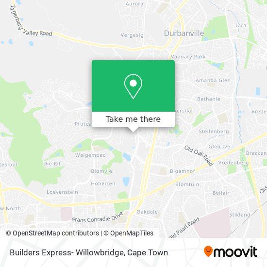Builders Express- Willowbridge map