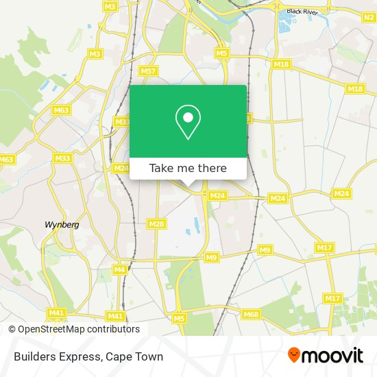 Builders Express map