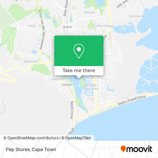 Pep Stores map