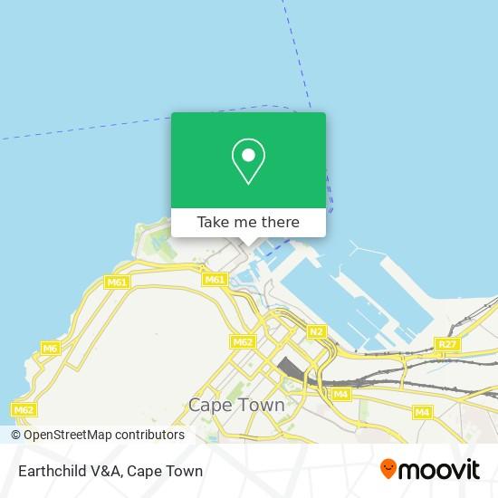 Earthchild V&A map