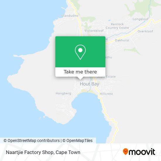 Naartjie Factory Shop map