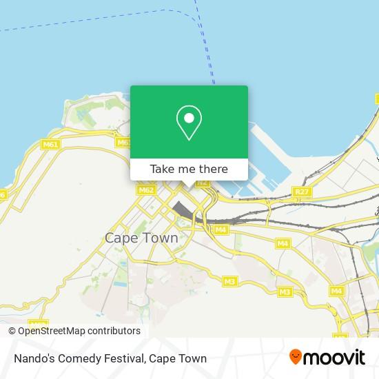 Nando's Comedy Festival map