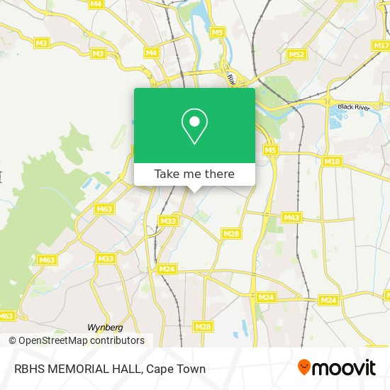 RBHS MEMORIAL HALL map