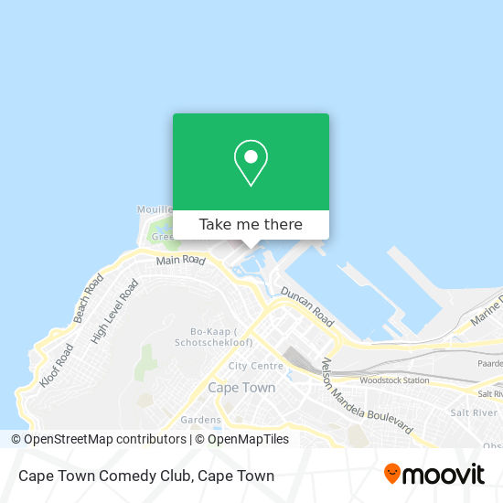 Cape Town Comedy Club map