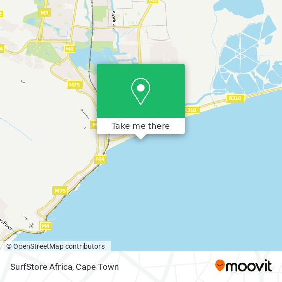 SurfStore Africa map