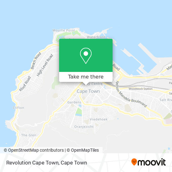 Revolution Cape Town map
