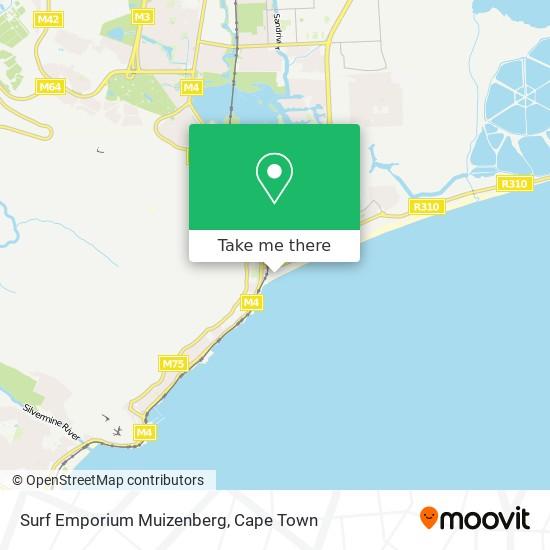 Surf Emporium Muizenberg map