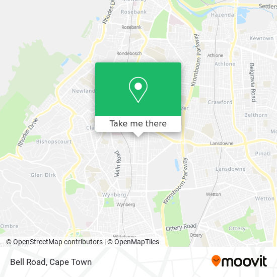 Bell Road map