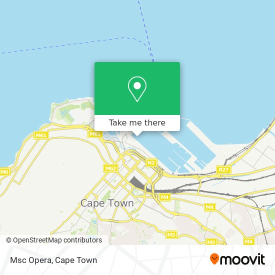 Msc Opera map