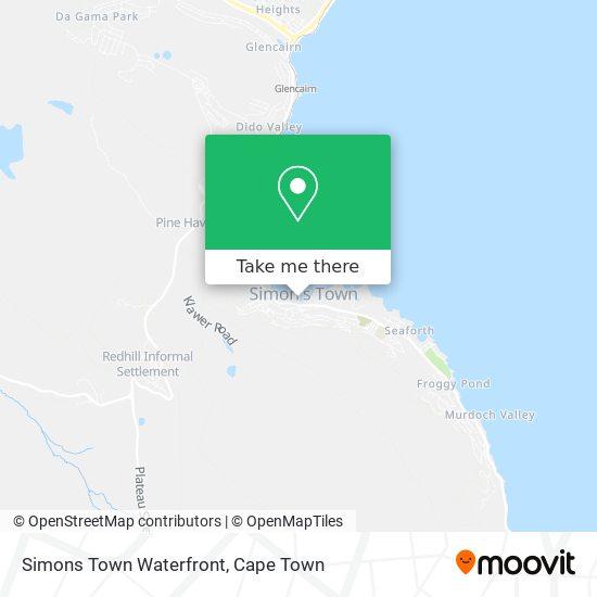 Simons Town Waterfront map
