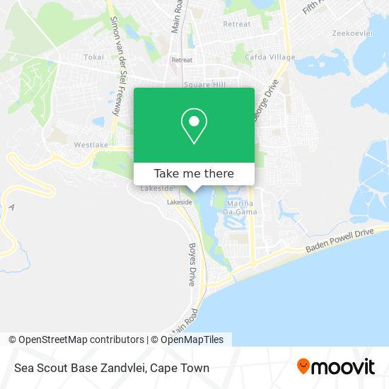 Sea Scout Base Zandvlei map