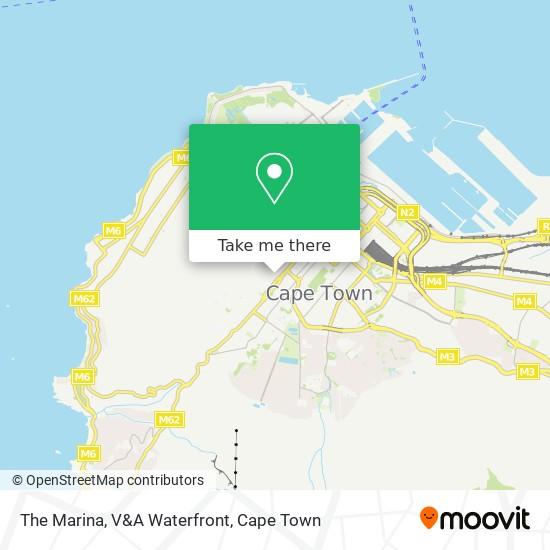 The Marina, V&A Waterfront map