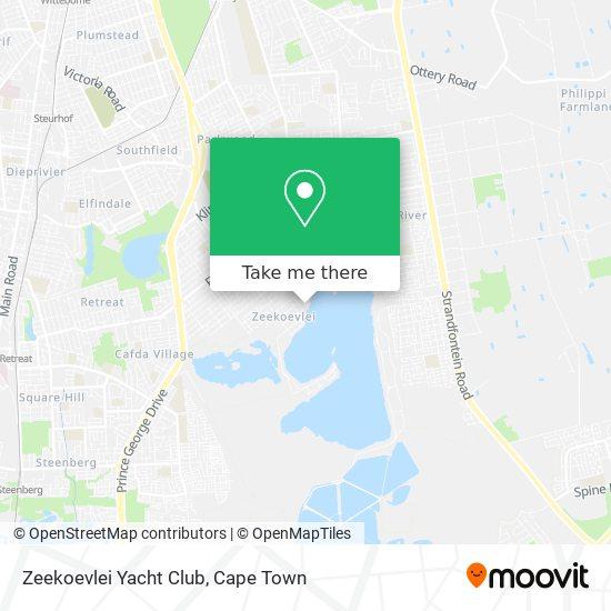 Zeekoevlei Yacht Club map