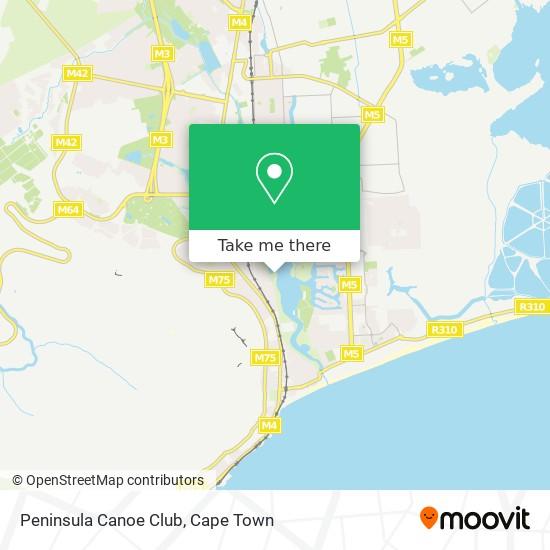 Peninsula Canoe Club map