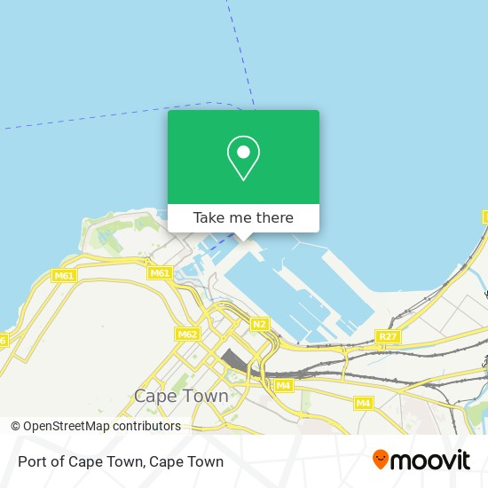 Port of Cape Town map