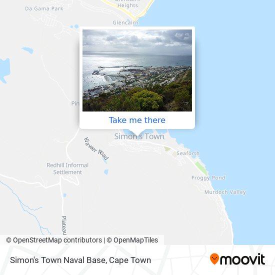 Simon's Town Naval Base map