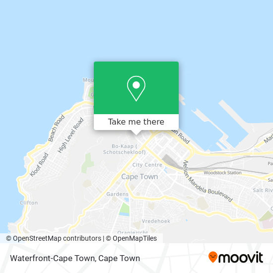Waterfront-Cape Town map