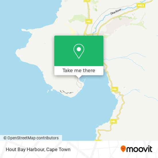 Hout Bay Harbour map
