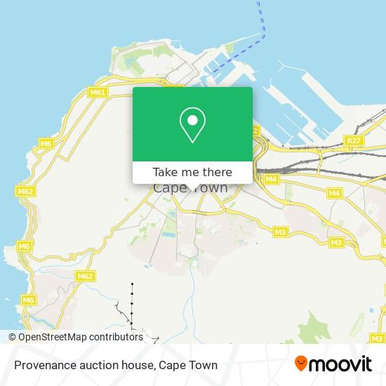 Provenance auction house map