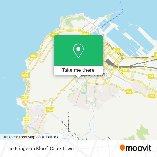 The Fringe on Kloof map