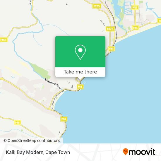 Kalk Bay Modern map