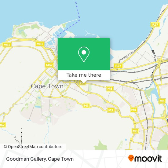 Goodman Gallery map