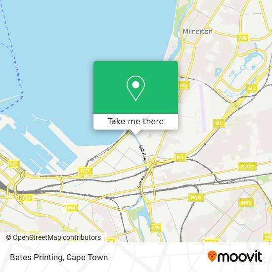 Bates Printing map