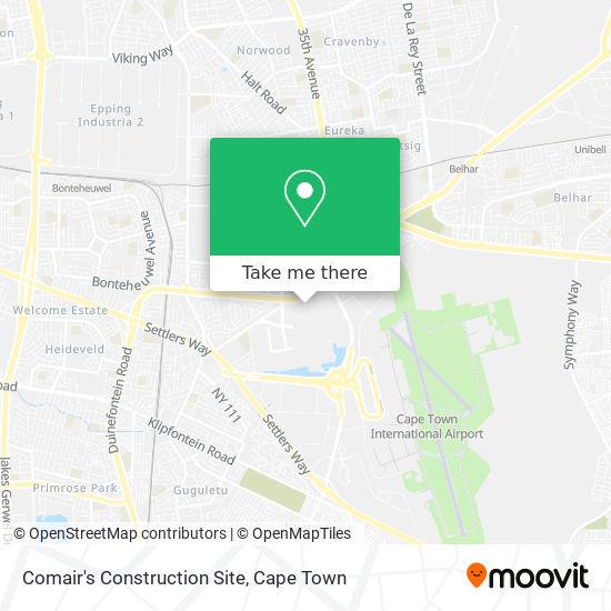 Comair's Construction Site map