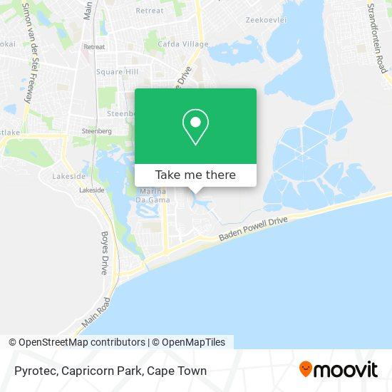 Pyrotec, Capricorn Park map