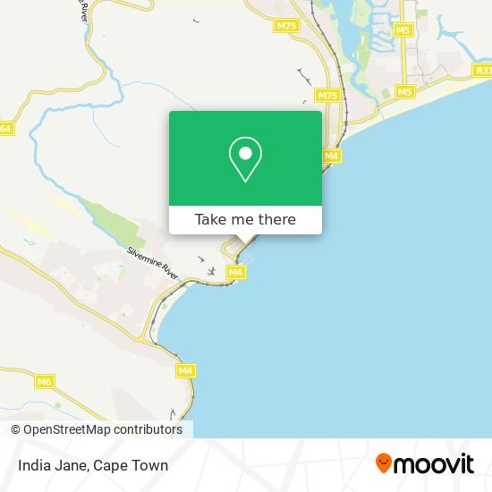 India Jane map