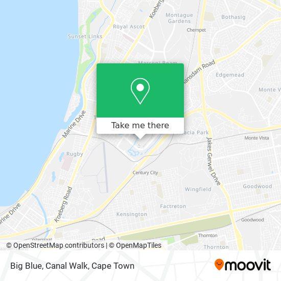 Big Blue, Canal Walk map