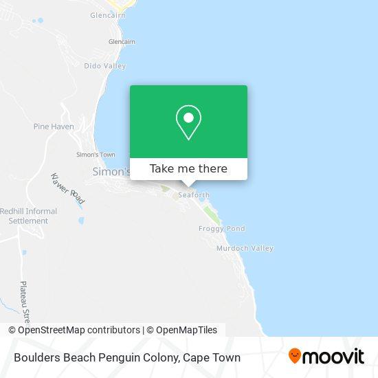 Boulders Beach Penguin Colony map