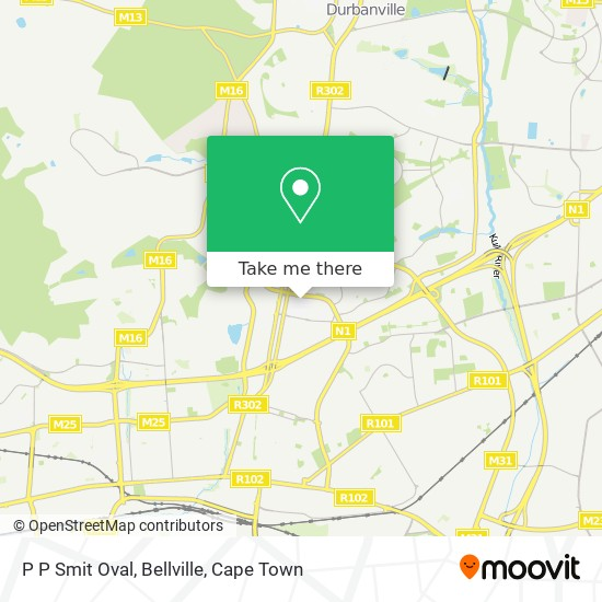 P P Smit Oval, Bellville map