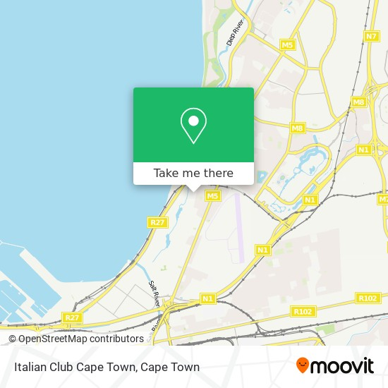 Italian Club Cape Town map