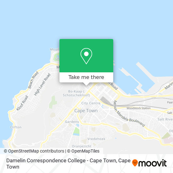 Damelin Correspondence College - Cape Town map