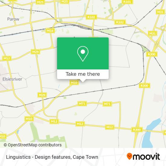 Linguistics - Design features map