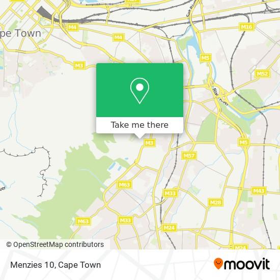 Menzies 10 map