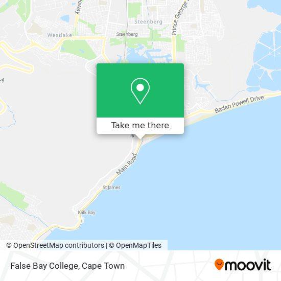 False Bay College map