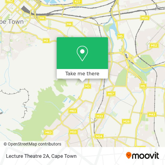 Lecture Theatre 2A map