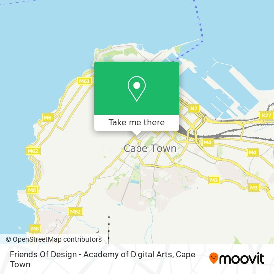 Friends Of Design - Academy of Digital Arts map