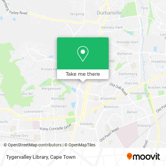 Tygervalley Library map