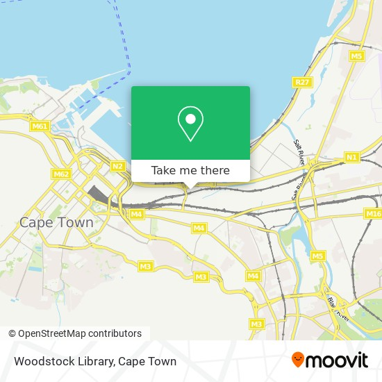 Woodstock Library map