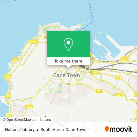 National Library of South Africa map