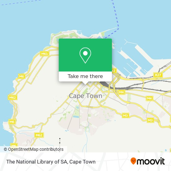 The National Library of SA map