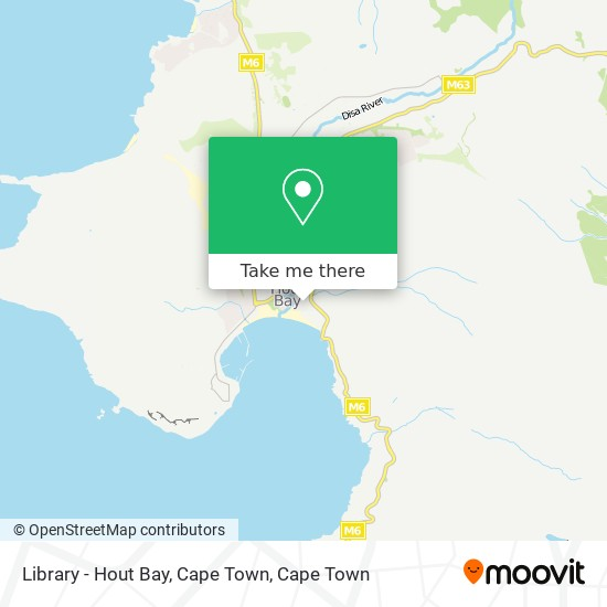Library - Hout Bay, Cape Town map