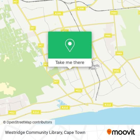 Westridge Community Library map