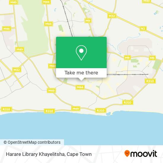 Harare Library Khayelitsha map