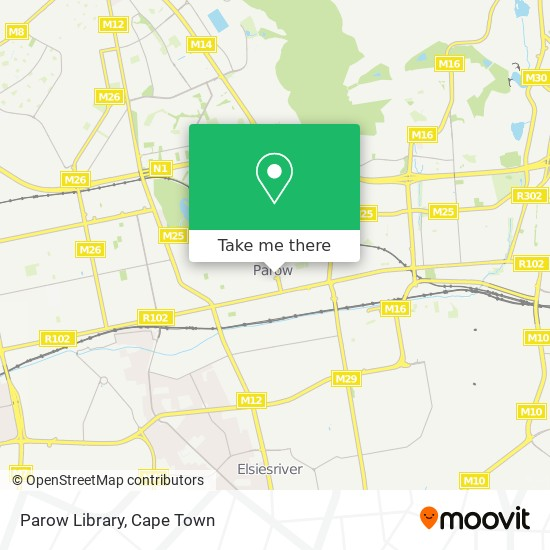 Parow Library map