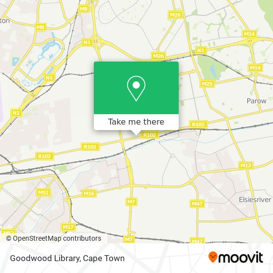 Goodwood Library map