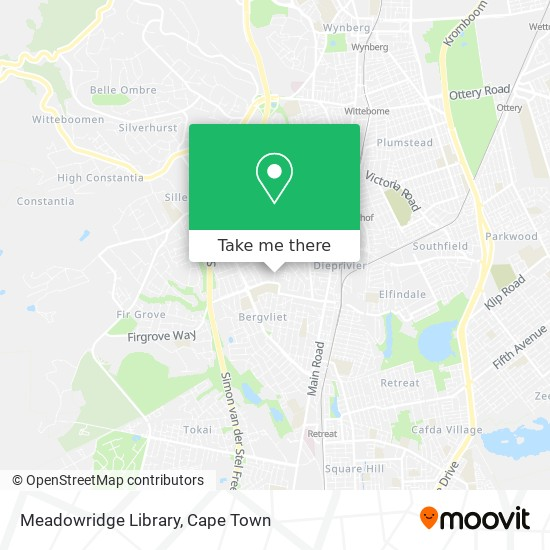 Meadowridge Library map
